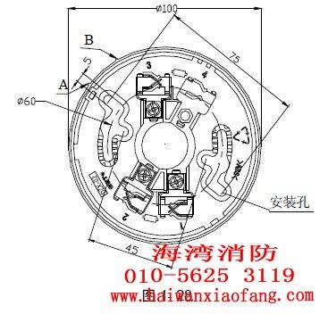 探测器安装接线盒可采用86h50型标准预埋盒,安装采用dzx-02定位