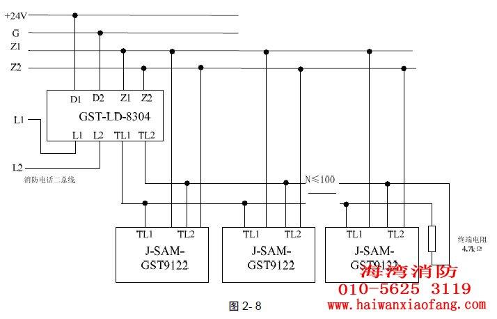 海湾8305模块接线图解