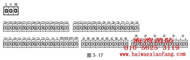 控制器外接线端子示意图如图3